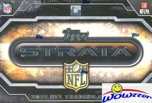 2015-Topps-STRATA-Football-Factory-Sealed-HOBBY-Box-2-ON-CARD-AUTOGRAPHS