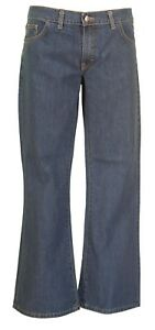 Mens-Vintage-60s-70s-Retro-Stonewashed-Bootcut-Flared-Jeans