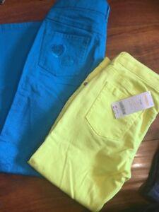 Gymboree-Blue-Yellow-Capri-Jeans-Size-10-Plus-New