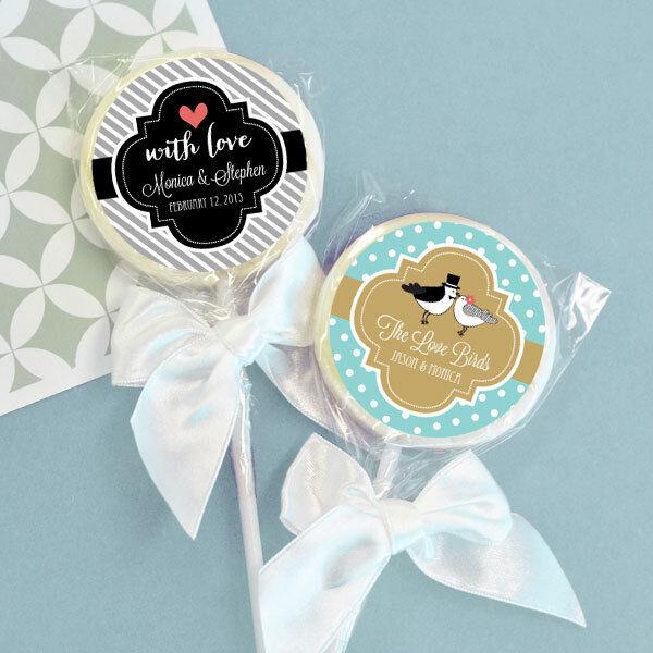 48 Something Sweet Personalized Lollipop Wedding Bridal Shower Favors
