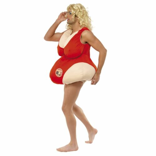 Baywatch Padded Bodysuit Swimsuit Mens Stag Do Novelty Fat Fancy Dress Costume