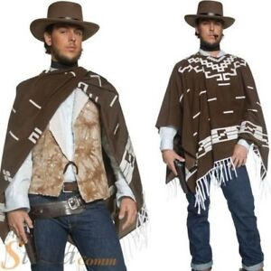 HOMBRE-VAQUERO-vaquero-pistolero-errante-Disfraz-CLINT-EASTWOOD-Poncho