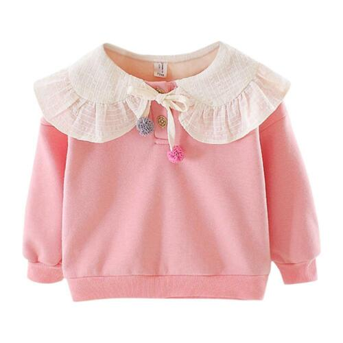 Baby Girl Kids Sweatershirt Comfort Soft Long-Sleeves Fashion Korean Lovely Tops