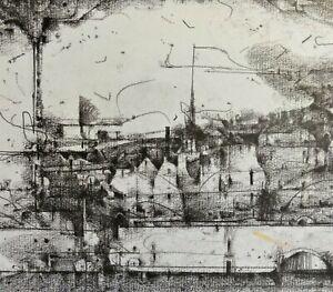 Sascha-JURITZ-1939-2003-Staedte-Lithographie-ca-1970-GEGEND-No-491-SUDWEST