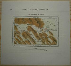1884 Perron map ESFAHAN ISFAHAN, IRAN (#39) | eBay