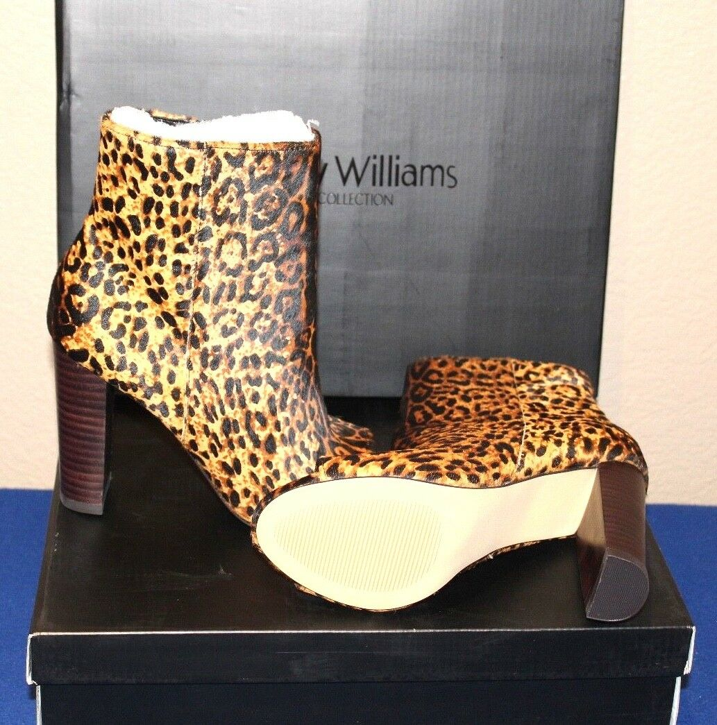 New Pony Booties Hair Leopard Peep Toe Booties Pony By Wendy Williams, Size 7M, 3.5