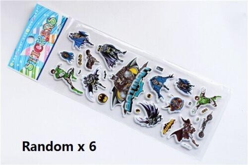 6 Batman Sticker Sheets Birthday Party Loot Lolly Favor Bag Filler