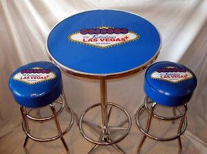 Welcome-To-Las-Vegas-Neon-Sign-Bar-Stools-amp-Pub-Table