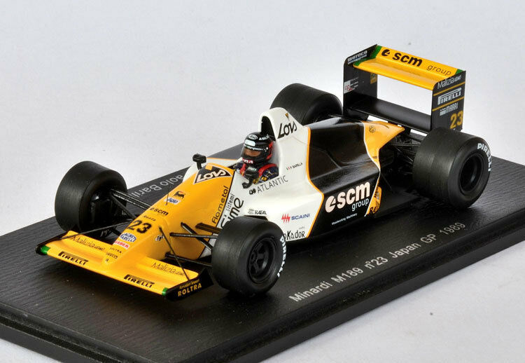 SPARK Minardi M189 No.23 GP de Japón (Japan GP) 1989 Paolo Barilla S4112 1 43