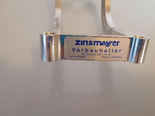 neuer zinsmayer  aluminium korbhalter für vorbaumontage für 25,4+28,6mm schaft