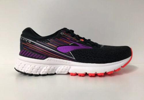Brooks Adrenaline GTS 19 Women/'s Widths Black//Purple//Coral