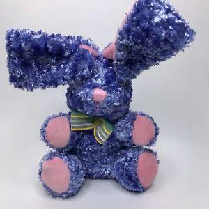 Dan-Dee-Soft-Plush-Blue-Bunny-Collectors-Choice-Small-Stuffed-Animal-Rabbit