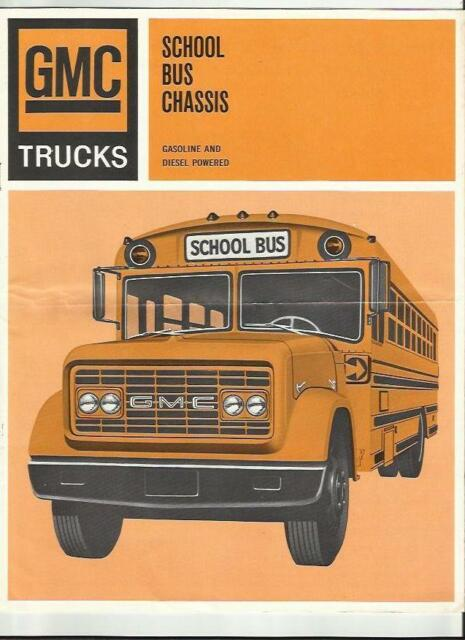GMC SCHOOL BUS CHASSIS SALES BROCHURE 1967