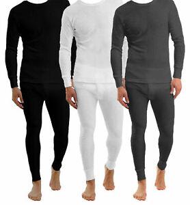 Mens-Thermal-Long-Johns-Top-Bottom-Underwear-Trousers-T-Shirt-Set-S-M-L-XL-XXL