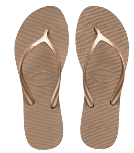 dbbfac322d2032 Havaianas Women`s Flip Flops High Light Rose Gold Sandals 1 1 2 inch ...