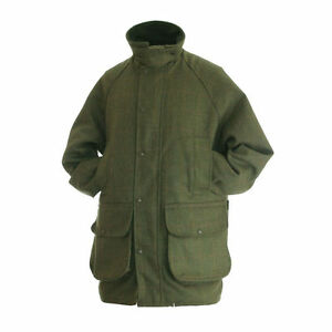 34eb2f277 Details about Hunter Outdoor Mens Tweed Shooting Jacket Waterproof and  Breathable Olive Size S