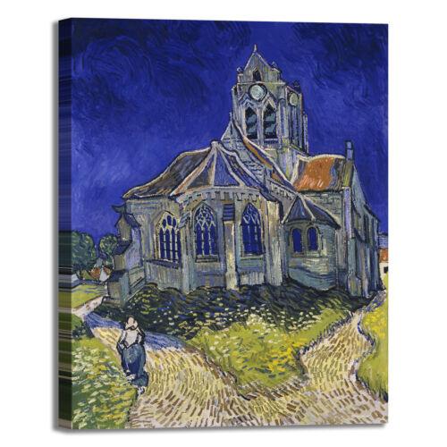 Van Gogh la chiesa di Auvers quadro stampa tela dipinto telaio arredo casa