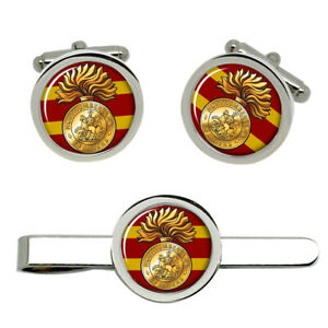 Northumberland-Fusiliers-British-Army-Cufflinks-and-Tie-Clip-Set
