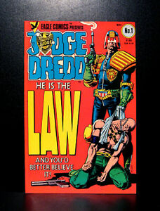 COMICS-Eagle-Comics-Judge-Dredd-1-1983-1st-Judge-Dredd-US-app-RARE