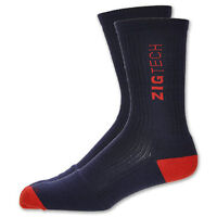 Reebok Zigtech Basketball Crew Socks 1pair Navy Blue / Red Men's Large 9.5 - 12
