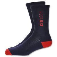 Reebok Zigtech Basketball Crew Socks 1pair Navy / Red Men's Size Xl 12.5 - 15