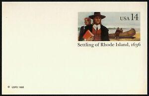 #UX112 14c Recepción De Rhode Island, Nuevo Cualquier 5=