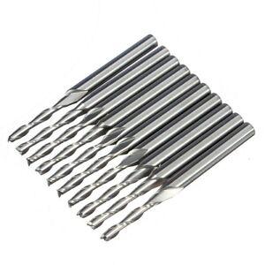 SHartmetall-Schaftfraeser-Hartmetallfraesstifte-Werkzeug-10-Stk-1-8-034-2mm-D2-Y2K1