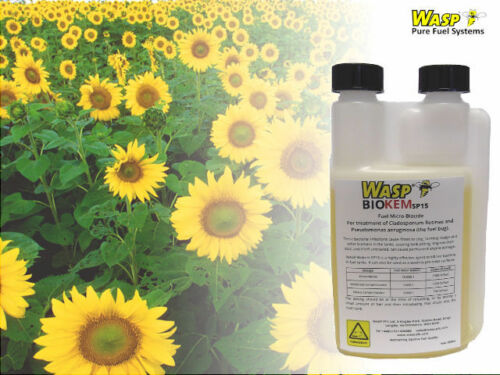 WASP BIOKEM Fuel Biodiesel Additive Biocide- Fuel Bug, Bacteria, Fungus, Yeast