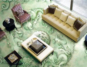 3D green Muster 577 Fototapeten Wandbild Fototapete Tapete Familie DE Lemon