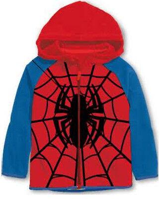 Official Marvel Spiderman Fleece Hoody Boy's Jumper Zipper Top
