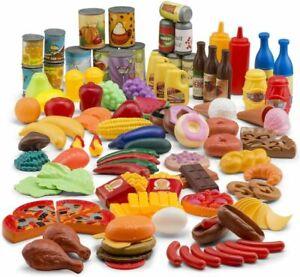 JaxoJoy 122 Pieces Pretend Food Set