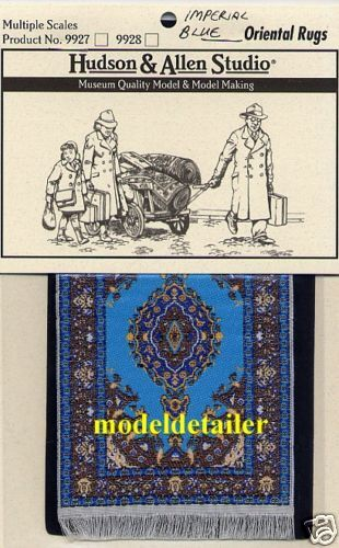 Hudson /& Allen Oriental Rug Woven Cloth Imperial Blue