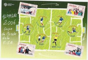 STAMP-TIMBRE-FRANCE-NEUF-BLOC-N-97-SPORT-COUPE-DU-MONDE-FOOTBALL-2006
