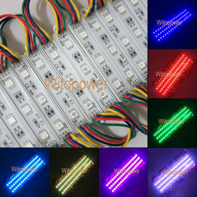 200x Super Bright 5050 RGB LED Module SMD 3 LEDS Light Waterproof 0.72W 12V DC