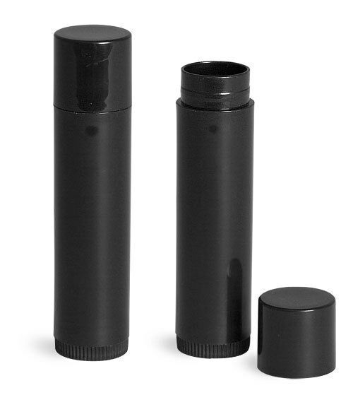 100 BLACK Twist up Lip stick / balm tubes, Make up DIY, all natural Gloss/Balm