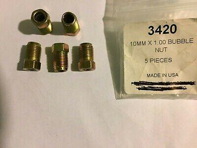 M10 X 1.0 Bubble Flare Nut Euro