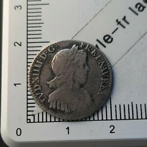 H21102-argent-top-rarete-non-repertoriee-Louis-XIV-1-12-ecu-1654-Y-Bourges-CGB