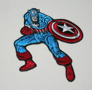 Official-Marvel-Comics-Captain-America-Iron-On-Cloth-Jacket-Patch-New