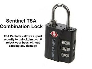 315c7049f470 Details about Sentinel TSA Combination Padlock allows customs to unlock and  relock your bags!