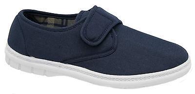 Para Hombre Cierre Táctil Zapatos De Salón/Acolchado Azul Marino Scimitar tamaños de 6 a 12