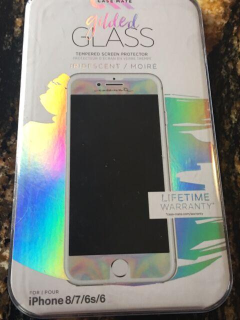 hot sale online ba09b 1e1e1 CM034972 Gilded Glass Screen Protector Case-Mate iPhone 7 6s 6 Iridescent  846127172783