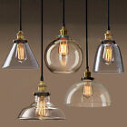 Pendant Light Shade Chandelier Vintage Industrial Clear Amber Glass Ceiling Lamp