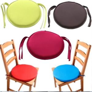 Image Is Loading Extra Thick Tie On Circle Round Chair Seat