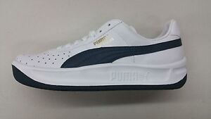 Image is loading PUMA-GV-SPECIAL-WHITE-NAVY-BLUE-LEATHER-RETRO-
