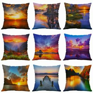 Sunset-Waist-Sofa-18-034-Home-Decor-Scenery-Cover-Pillow-Cushion-Covers-Pillow-Case