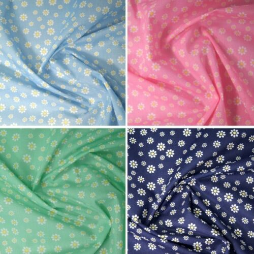 Polycotton Fabric Linnet Rise Daisy Daisies Flowers Floral