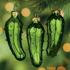 3 Pack Legend Of The Pickle Christmas Tree Ornament Lucky Holiday
