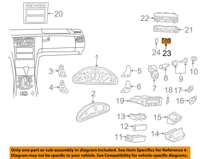 s l640 mercedes w210 e class wagon hazard power lock wiper washer switch