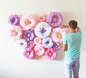 10 large paper flower no giant blooms includedding centerpiece image is loading 10 large paper flower no giant blooms included mightylinksfo