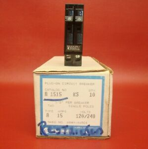 Details about New Challenger/GE/Bryant 1 Pole Double/Tandem Type A Cu-Al  A1515 Circuit Breaker